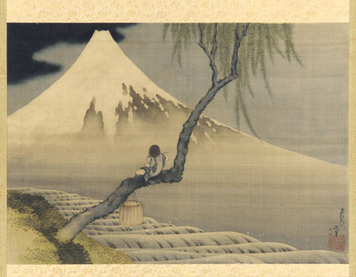 hokusai Boy viewing Mont Fuji