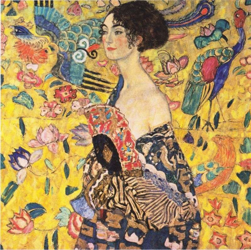 klimt dame  a l eventail